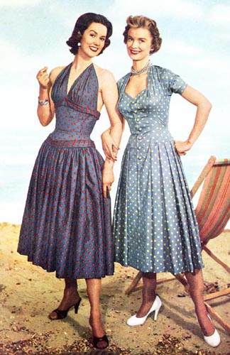 vintage clothing style for models